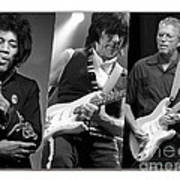 Guitar Legends Jimi Hendrix Jeff Beck And Eric Clapton Poster