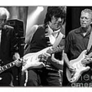 Guitar Legends Jimmy Page Jeff Beck And Eric Clapton Poster