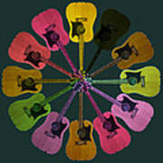 Guitar O Clock Poster