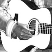 Guitar Player Poster by Aidan Moran