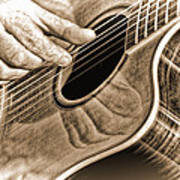 Guitar Player Poster