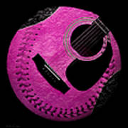 Guitar Raspberry Baseball Poster