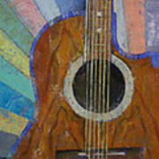 Guitar Sunshine Poster by Michael Creese
