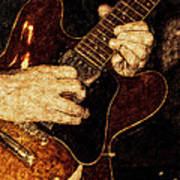 Guitar Tinted Copper Poster