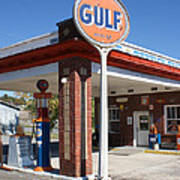 Gulf Station Sign Poster