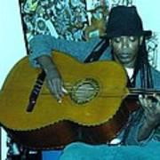 Gully Guitar And Black Hat  Poster