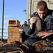 Gunners Mate Sorts Ammunition Poster