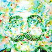 Gurdjieff- Watercolor Portrait Poster