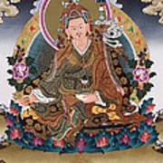 Guru Rinpoche Thangka Art Canvas Poster