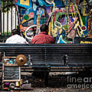 Guys On A Bench - Jackson Square Poster