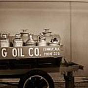 H And G Oil Company In Sepia Poster