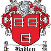 Hadley Coat Of Arms Irish Poster