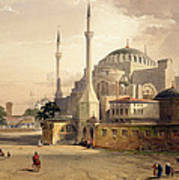 Haghia Sophia, Plate 17 Exterior View Poster by Gaspard Fossati