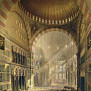 Haghia Sophia, Plate 24 Interior Poster by Gaspard Fossati