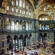 Hagia Sophia Interior Poster by Joan Carroll