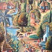 Haitian Village Poster