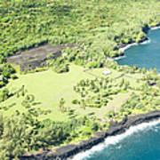 Aerial View Hale O Pi'ilani Heiau Honomaele Hana Maui Hawaii  Poster