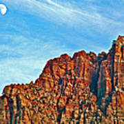 Half Moon Over Zion National Park-utah Poster