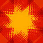 Halftone Star 2 Poster