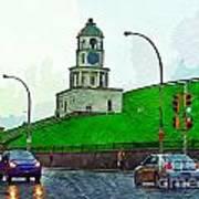 Halifax Historic Town Clock Poster