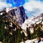 Hallett Peak In Spring Poster