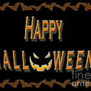 Halloween Bat Border Poster
