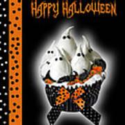 Halloween Ghost Cupcake 3 Poster