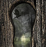 Halloween Keyhole Poster by Amanda Elwell