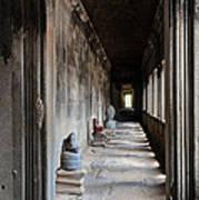 Hallway At Angkor Wat Poster