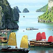 Halong Bay Sails 01 Poster