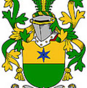 Haly Coat Of Arms Irish Poster