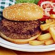Hamburger & French Fries Poster
