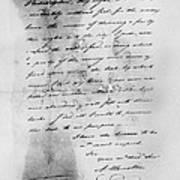 Hamilton: Letter, 1777 Poster