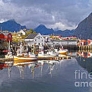 Hamnoy Fishing Village On Lofoten Islands Poster