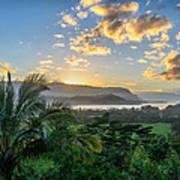 Hanalei Bay Sunset Poster