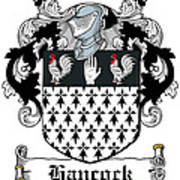Hancock Coat Of Arms Portleck Westmeath Poster