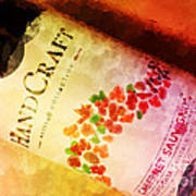 Handcraft Cabernet Sauvignon Poster by Mary Machare
