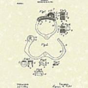 Handcuff 1899 Patent Art Poster