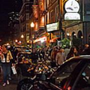 Hanover Street Nights - Boston Poster