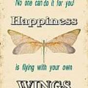 Happinesstypography Poster
