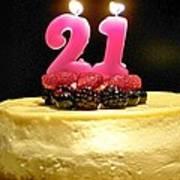 Happy 21st Birthday Poster