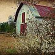 Happy Barn In Spring Poster by Lorraine Heath