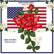 Happy Birthday America Poster by Anne Norskog