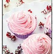 Happy Birthday Cupcakes Poster by Edward Fielding