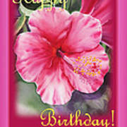Happy Birthday Hibiscus  Poster