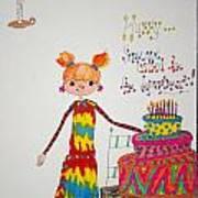Happy Birthday Poster by Mary Kay De Jesus