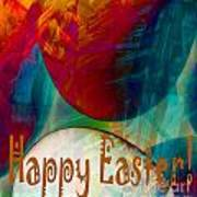 Happy Easter Greeting Card Poster