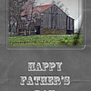 Happy Father's Day Greeting Card - Old Barn Poster