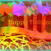 Happy Holidays - Christmas Packages - Holiday And Christmas Card Poster