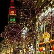 Happy Holidays Downtown Denver Co Poster